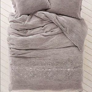 UO embroidered king duvet